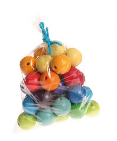 36 Perles en bois 30mm GRIMMS