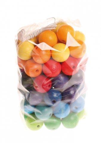 60 Perles en bois 20mm GRIMMS