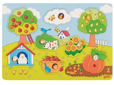 Puzzle cache-cache dans le jardin Goki