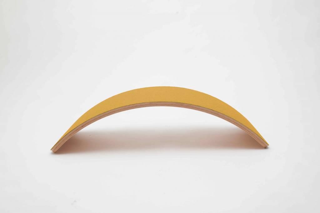 Wobbel planche d\'équilibre Bambou Pro feutre Moutarde