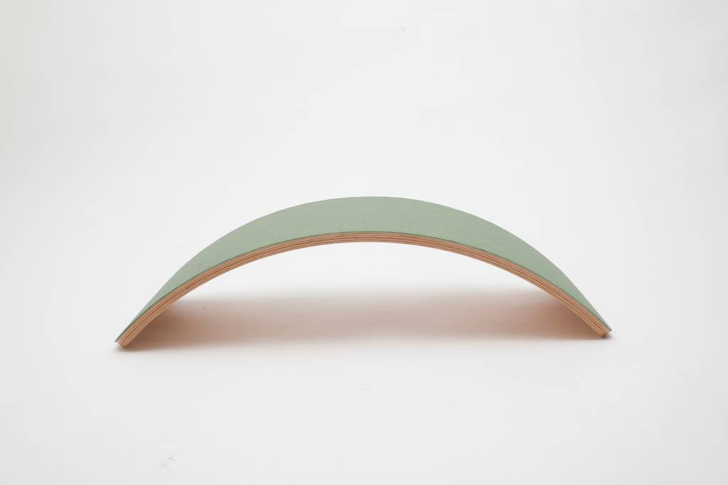 Wobbel planche d\'equilibre Bambou Pro feutre Vert forêt