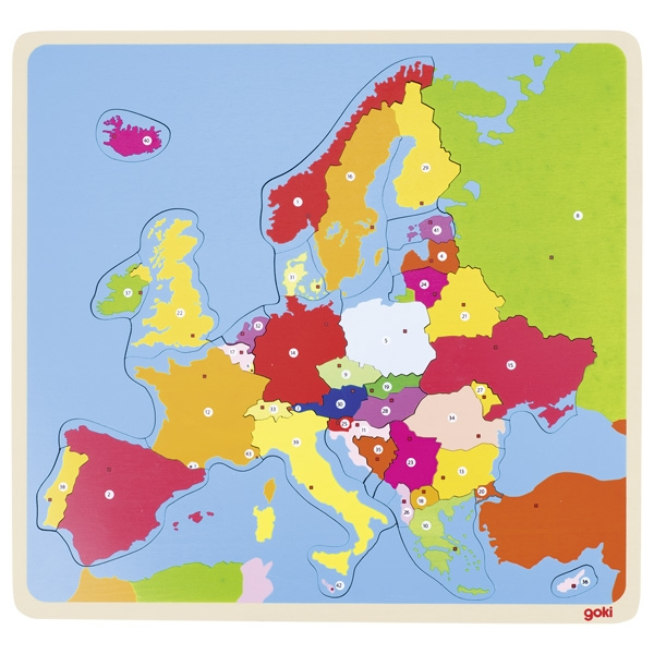 Puzzle en bois Europe GOKI