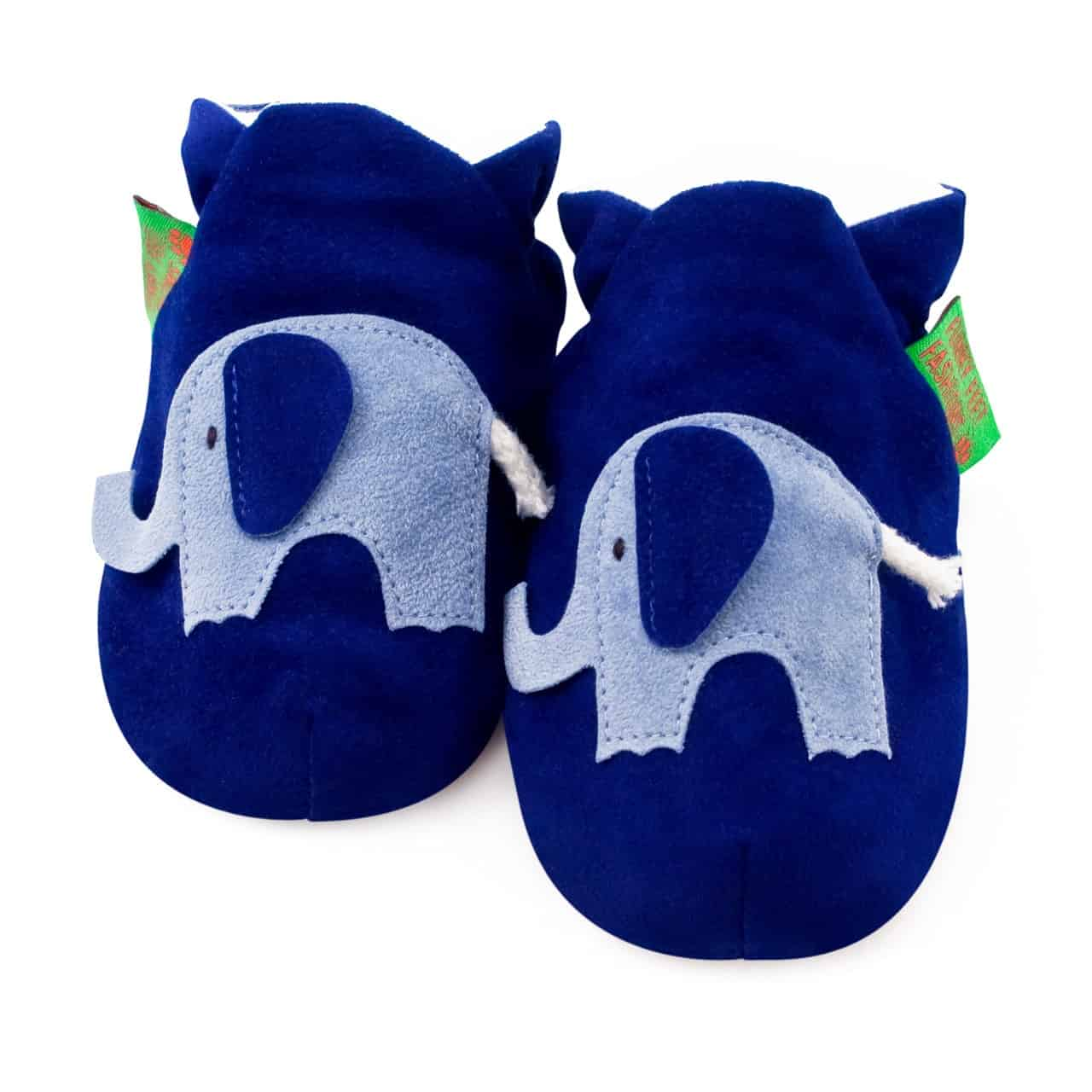 Chaussons souples Funky Feet Elephant Blue