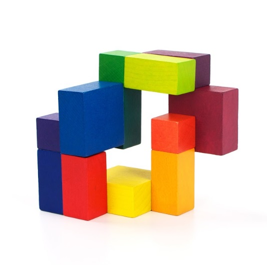 Art Cube Playable Art - Cube artistique en bois Multicolore