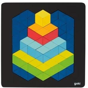 Puzzle 3D en bois GOKI - 82 pièces