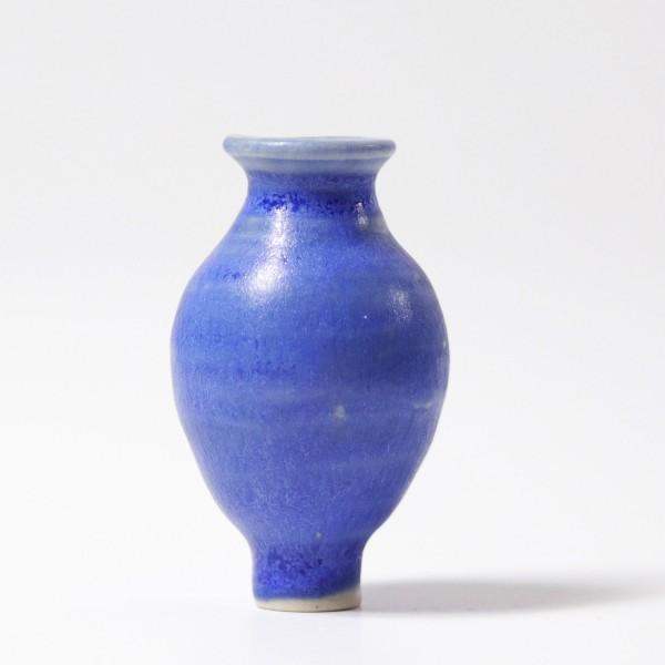Figurine en céramique vase bleu Grimm\'s