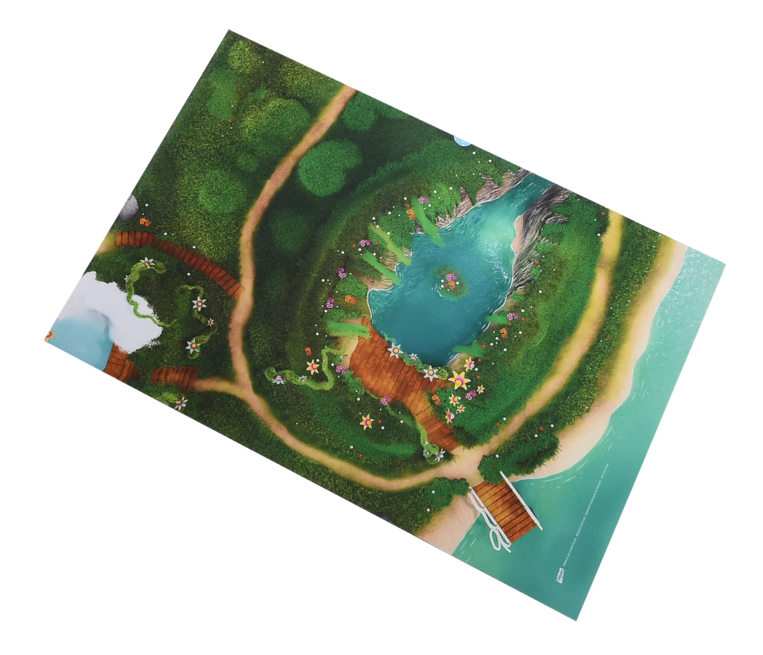 Tapis de jeu Carpeto Lagon féérique 90 X 60 cm