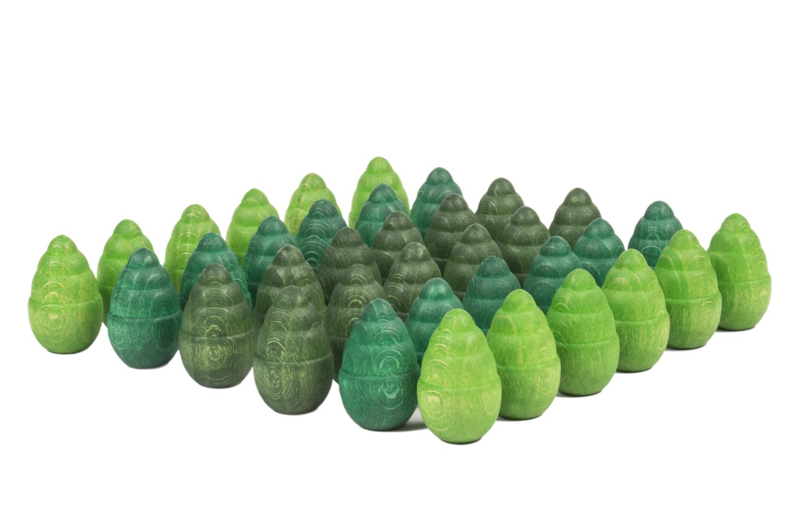 Mandala arbres vert - Lot de 36 - GRAPAT