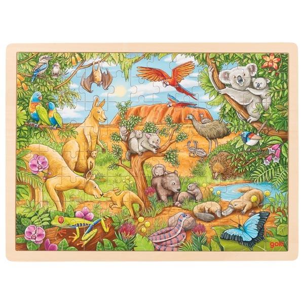 Puzzle animaux d\'Australie 96 pièces GOKI