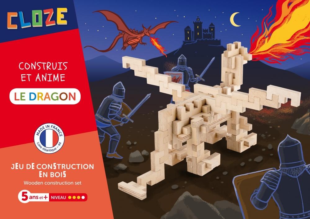 Jeu de construction en bois Dragon CLOZE