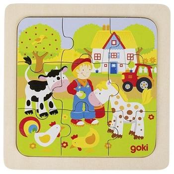 Puzzle en bois Ferme GOKI