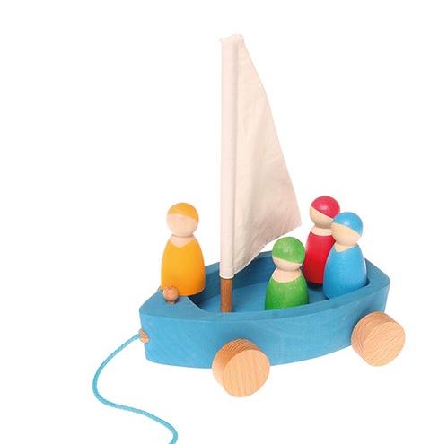 Le char à voile à tirer et ses 4 petits marins Grimm\'s