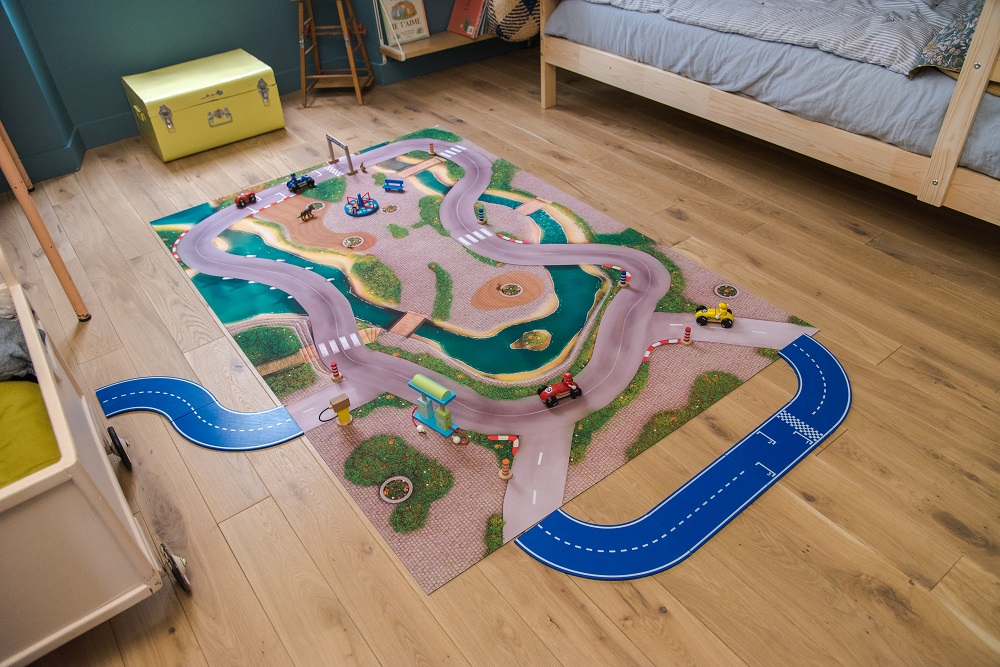 Tapis de jeu Carpeto Ville urbaine 120 X 80 cm