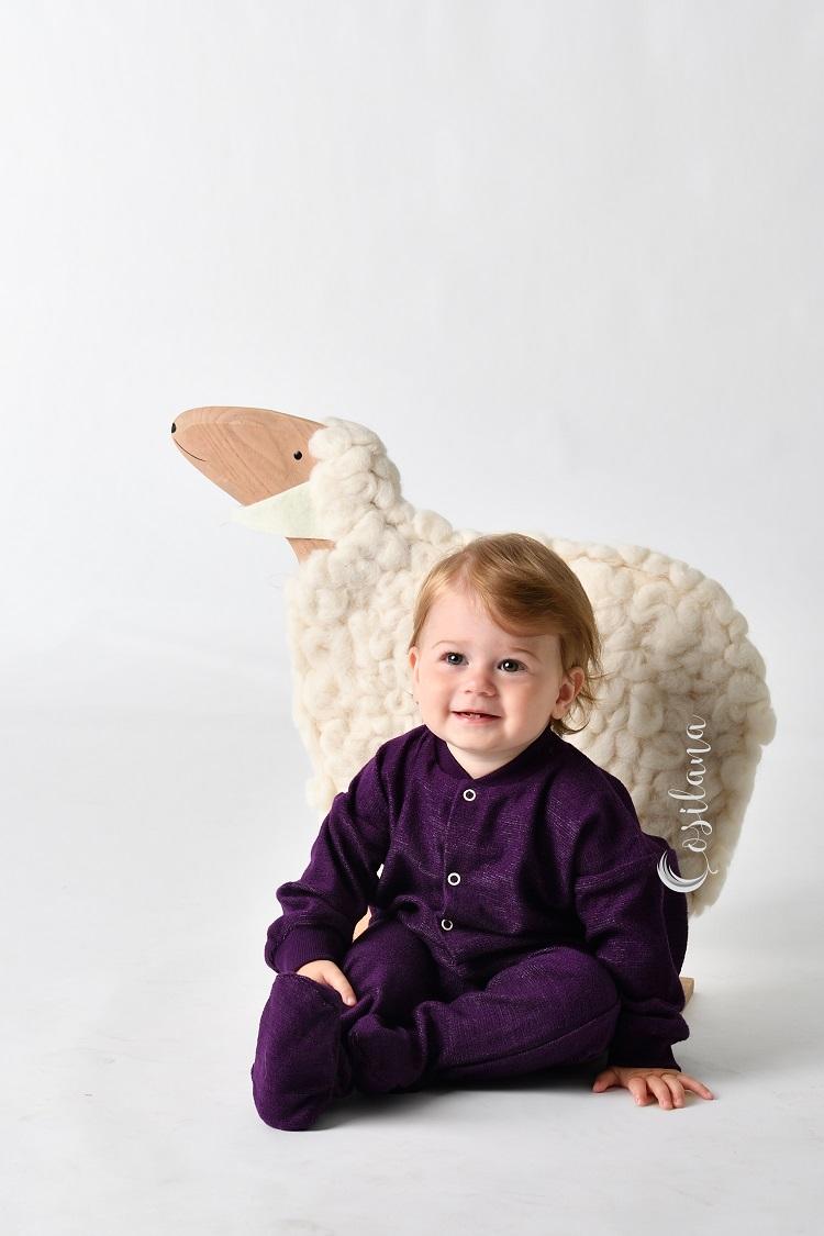 Pyjama en laine avec pieds Cosilana