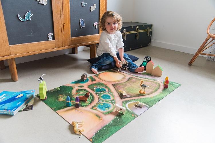 Tapis de jeu Carpeto Le Royaume des Animaux 90 X 60 cm