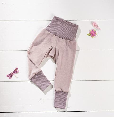 Cosilana Pantalon rose/lilas - laine/soie
