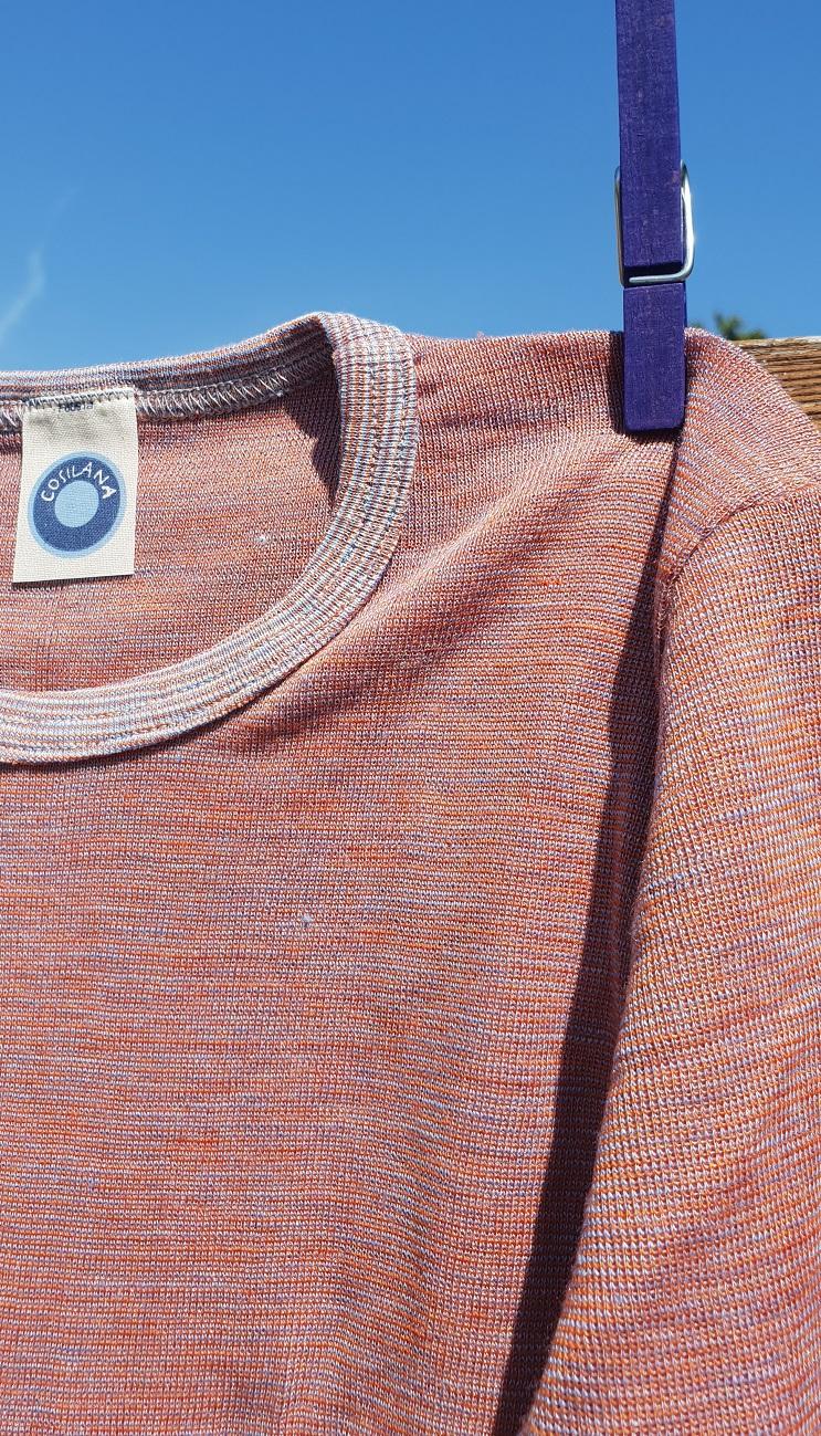 Cosilana T-shirt manches longues enfants tramonto chiné - Laine/soie
