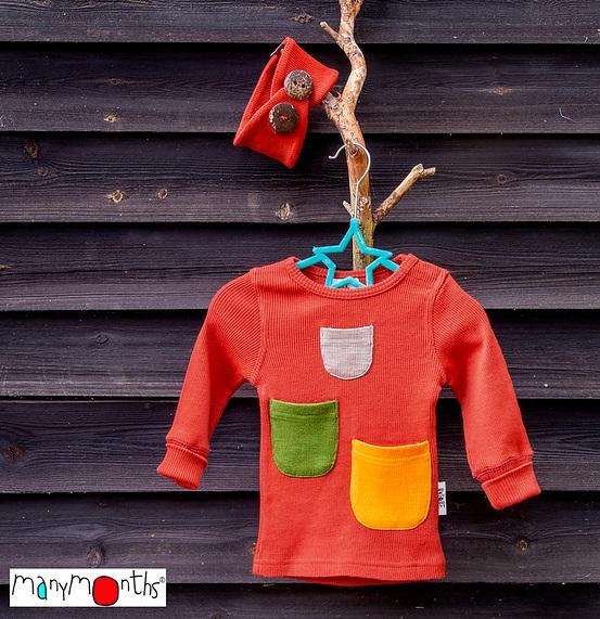ManyMonths T-shirt à manches longues avec poches en laine - coloris 2020