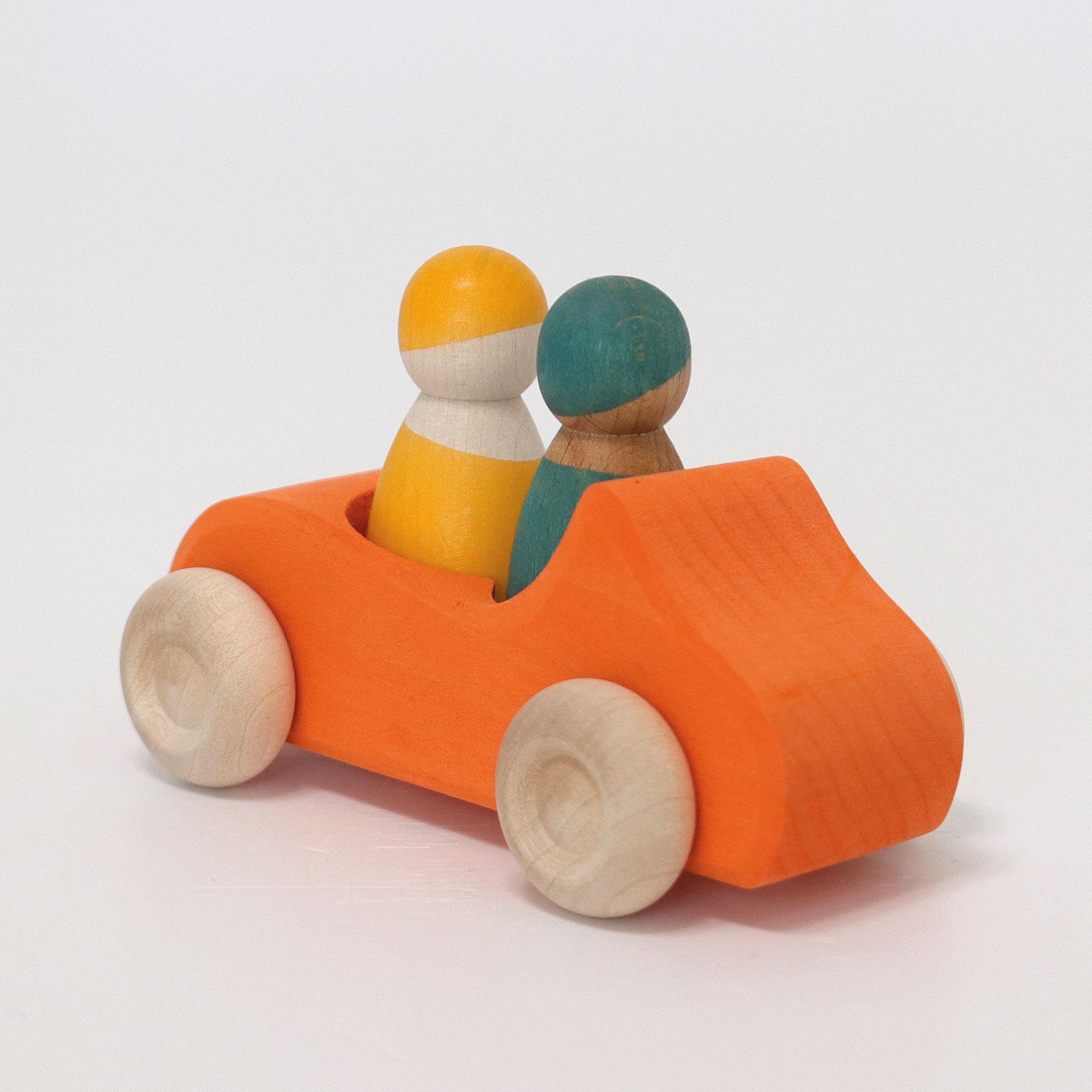 Grande voiture cabriolet orange double place Grimm\'s