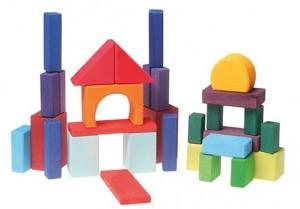 30 blocs formes géométriques en bois Grimm\'s