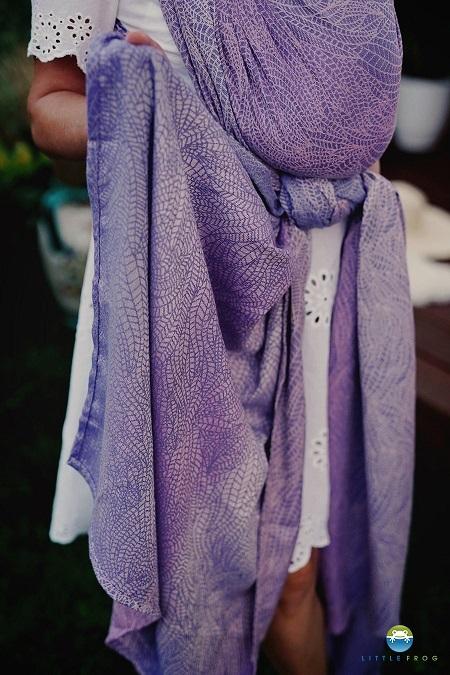 Little Frog Echarpe de portage Lilac Wildness 6