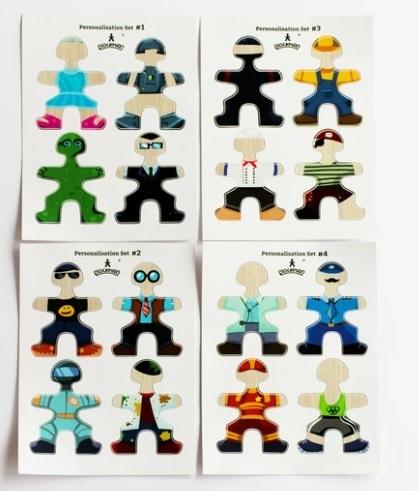 Flockmen - Lot de 16 autocollants de personnage