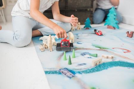 Tapis de jeu Carpeto Etoiles des neiges 120 X 90 cm 2