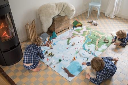 Tapis de jeu Carpeto Etoile des neiges 120 X 180 cm 2