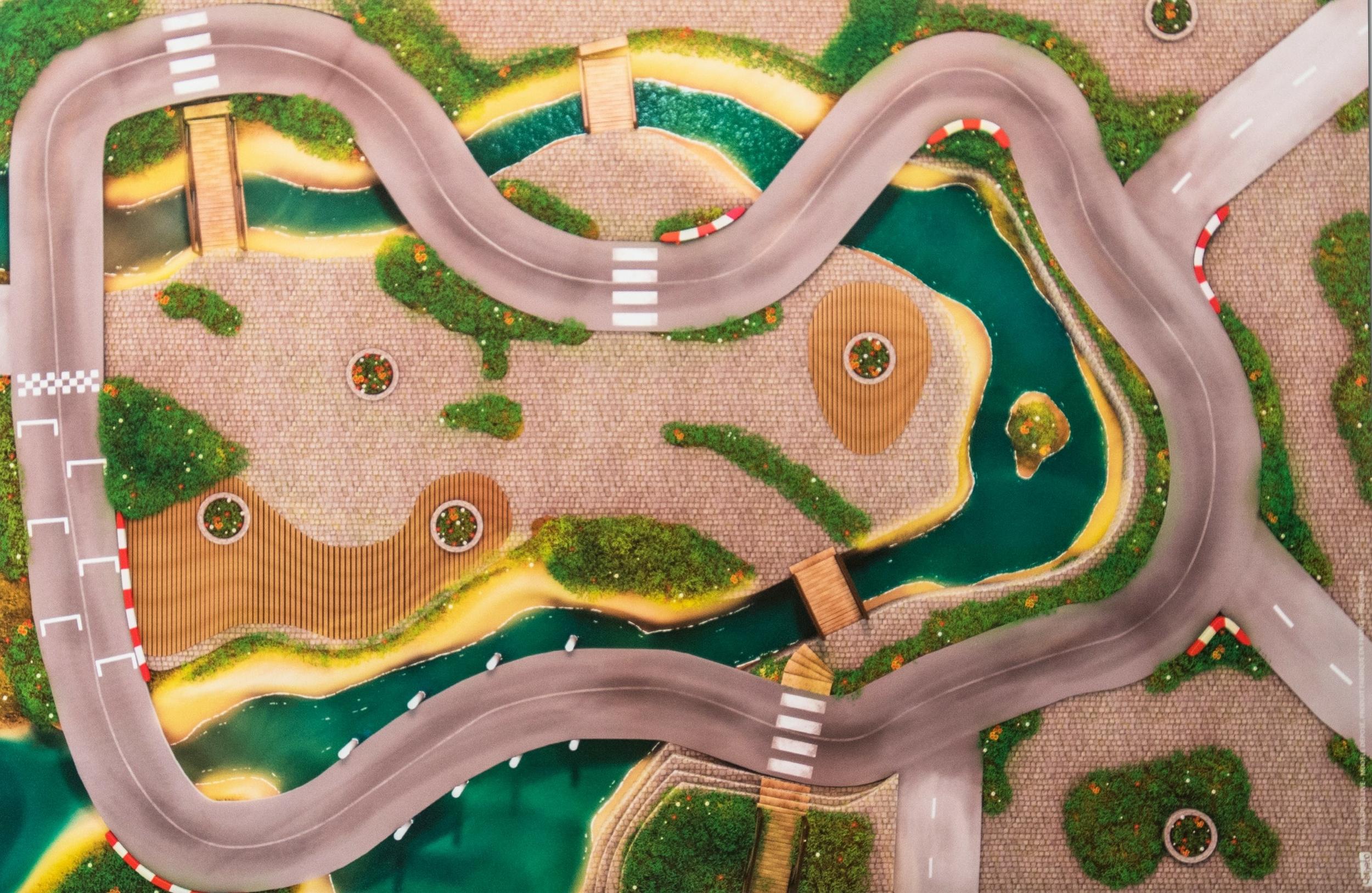 Tapis de jeu Carpeto Ville urbaine 90 X 60 cm