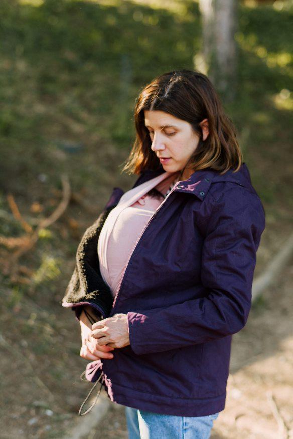 Manteau de portage Momawo Violet