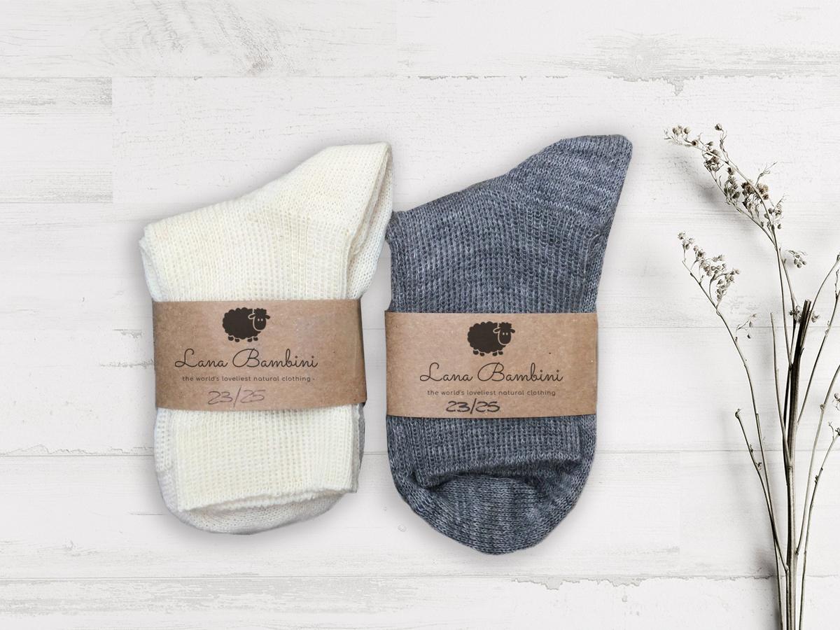 Chaussettes en laine Pia - Lana Bambini