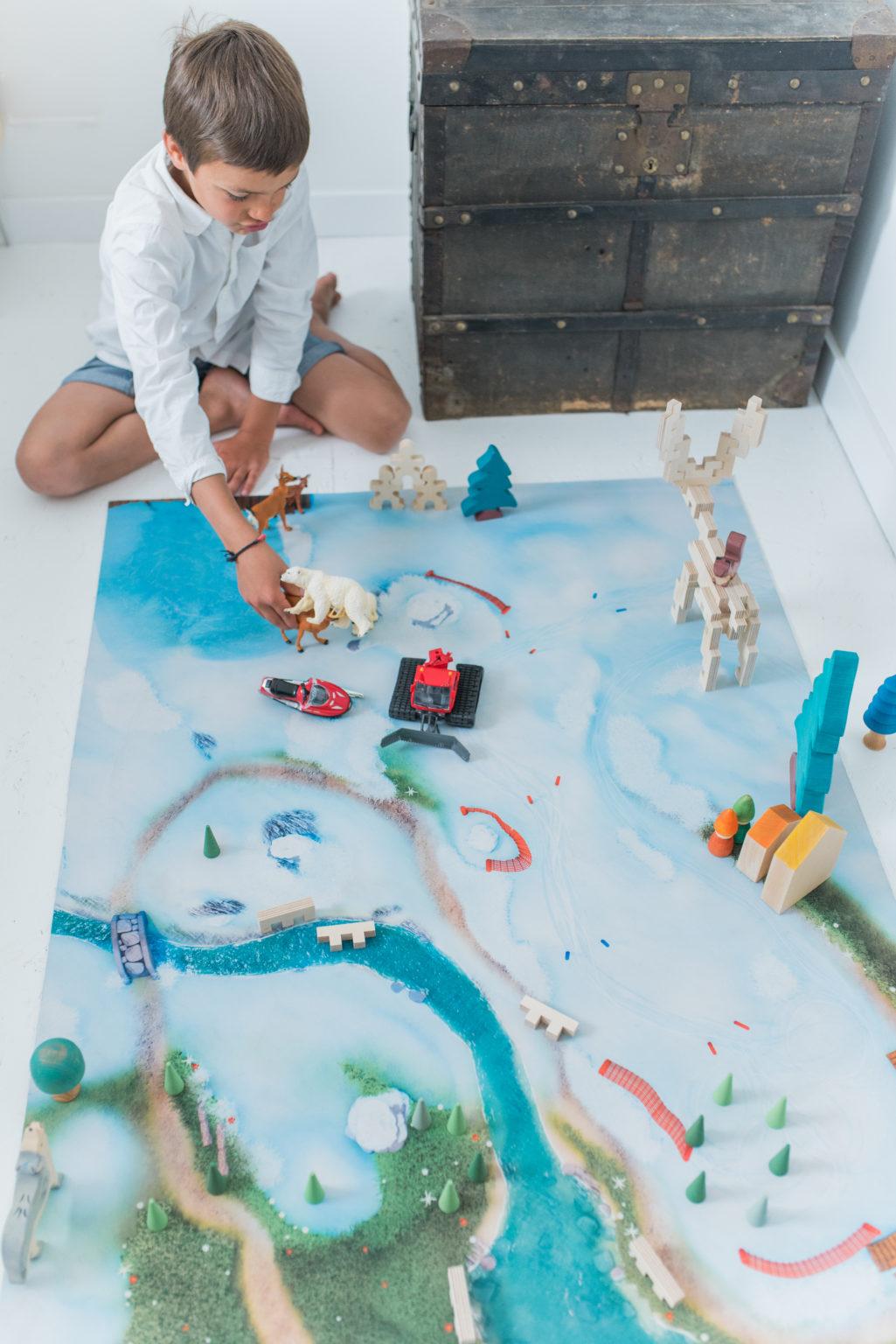 Tapis de jeu Carpeto Etoile des neiges 90 X 60 cm