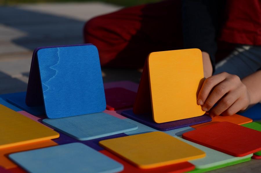 Planchettes de construction colorés Bauspiel - 40 pièces