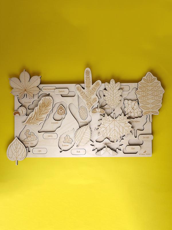 Puzzle à couches Feuilles, Arbres et fruits Stuka Puka
