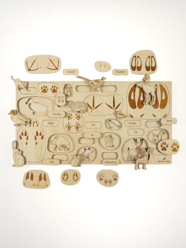 Puzzle à couches Empreintes d\'animaux Stuka Puka