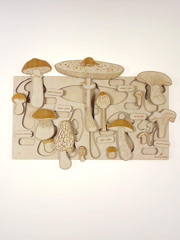 Puzzle multicouches Champignons Stuka Puka