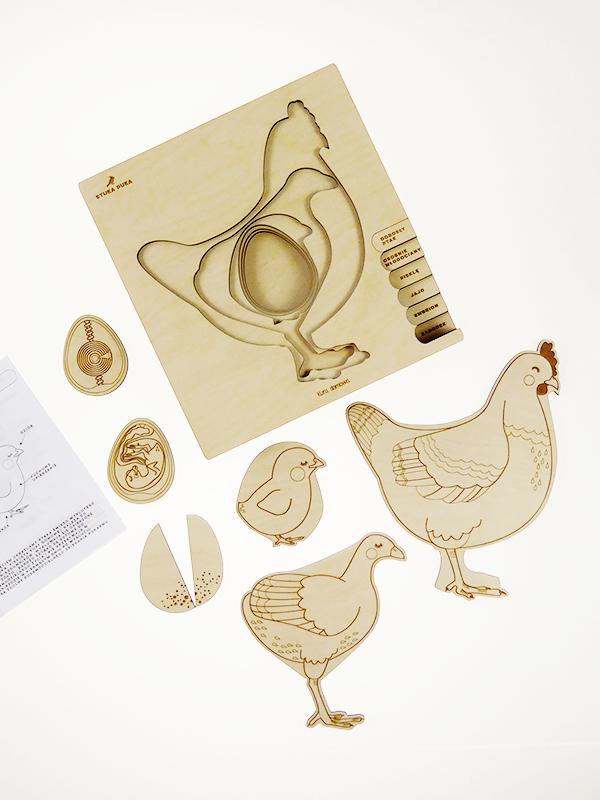 Puzzle multicouches le Cycle de vie de la poule Stuka Puka