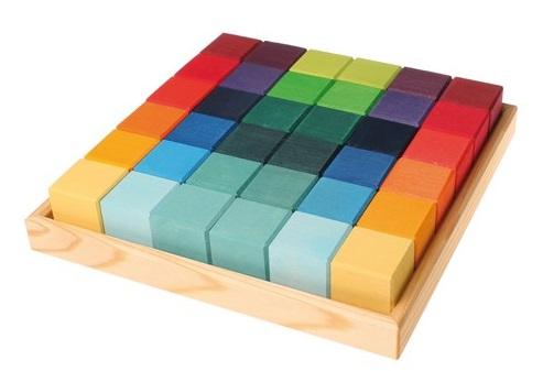 36 cubes de construction en bois Grimm\'s