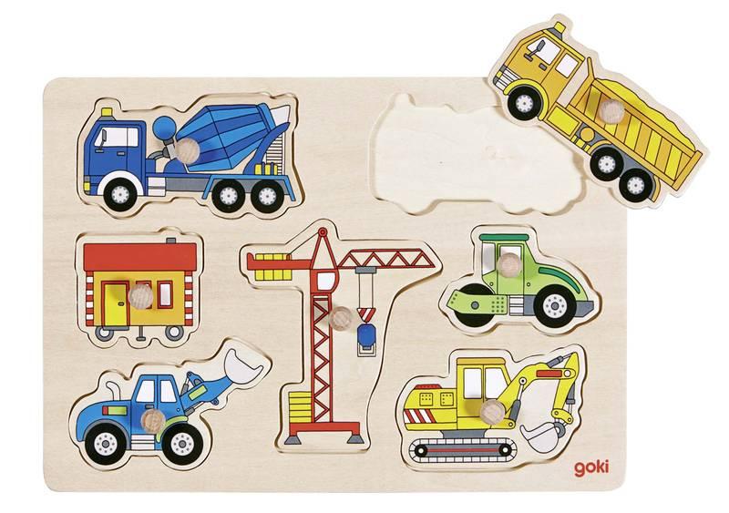 Puzzle en bois Voitures de chantier