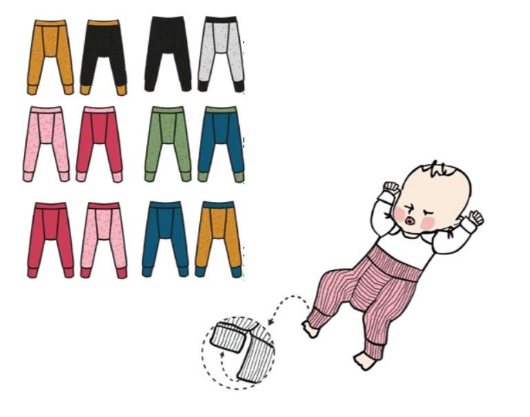 ManyMonths Longies en laine réversibles - coloris 2021