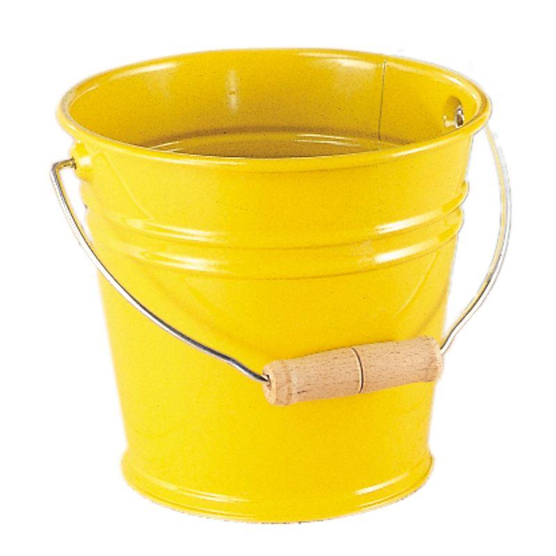 Seau coloré en métal jaune Glückskäfer 535057
