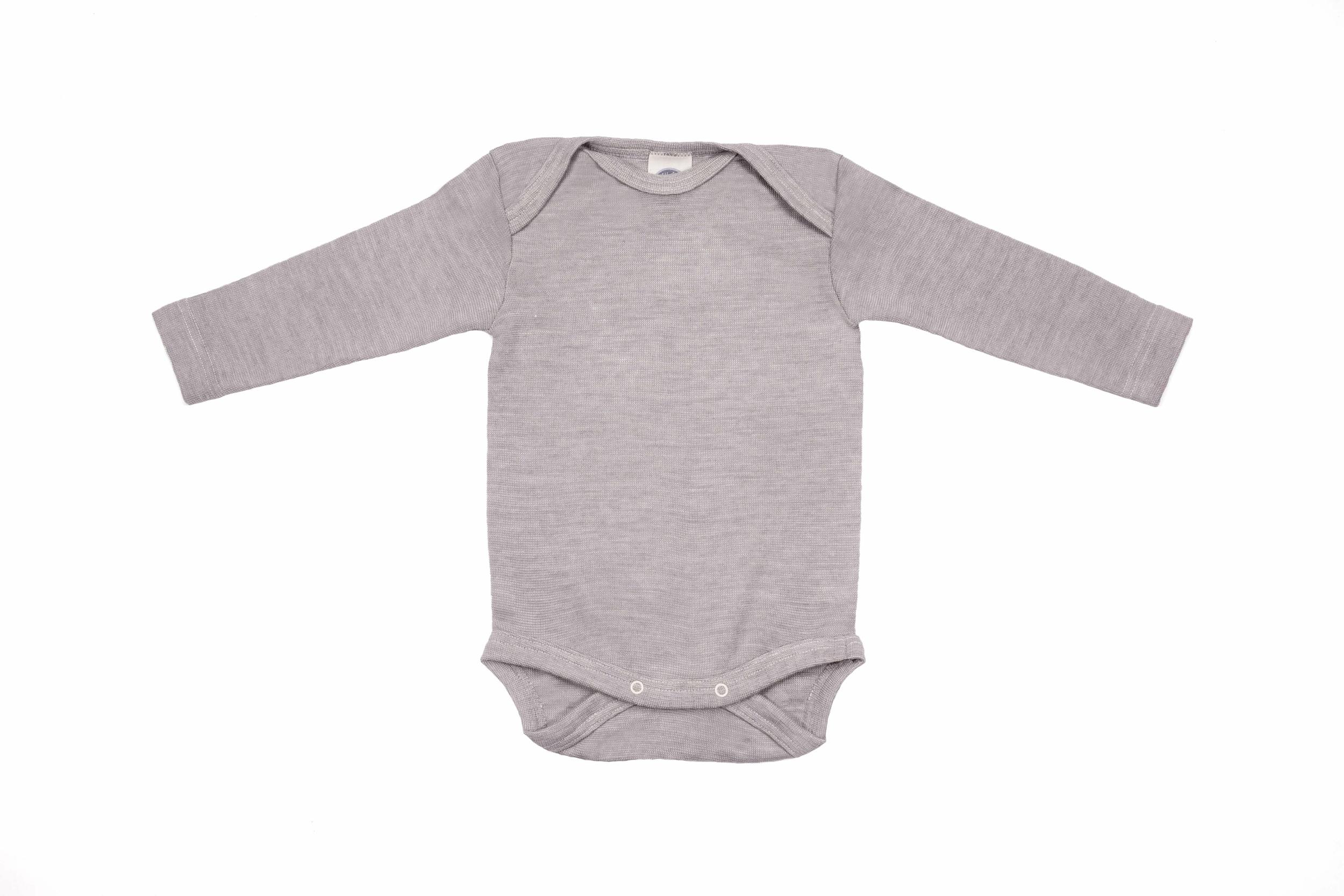 Cosilana Body manches longues laine/soie gris chiné 71053-240