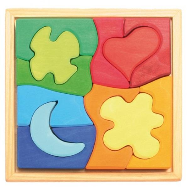 Puzzle coeur, lune, fleurs GRIMM\'s