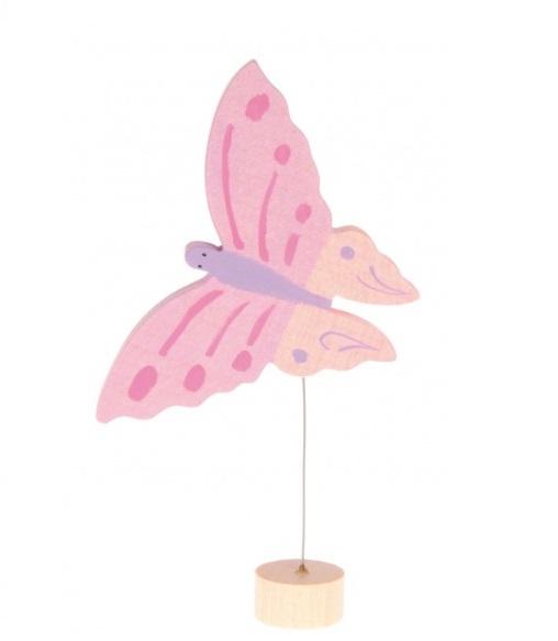 Figurine en bois Papillon Rose GRIMM\'s