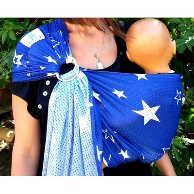 Porte-bébé Sling Sukkiri blue stars