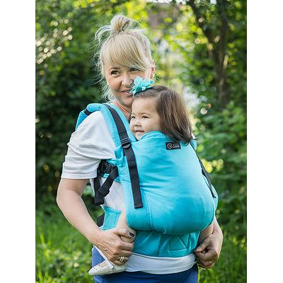 ISARA Porte-bébé Standard  Turquoise V3 - Coton BIO