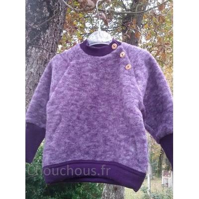 Cosilana pull en laine - violet