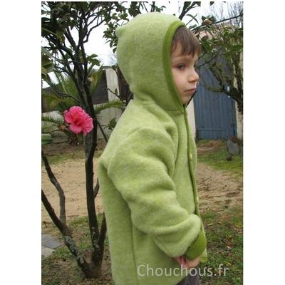 Cosilana gilet avec capuche Vert