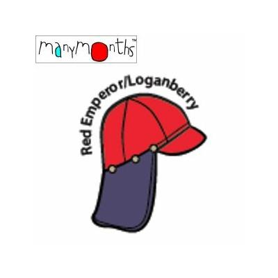 Casquette de soleil ajustable ManyMonths - Red emperor/Loganberry
