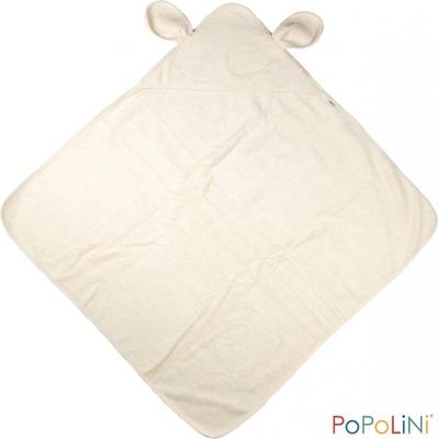 Cape de bain coton BIO avec oreilles écru Popolini - 100 x 100cm